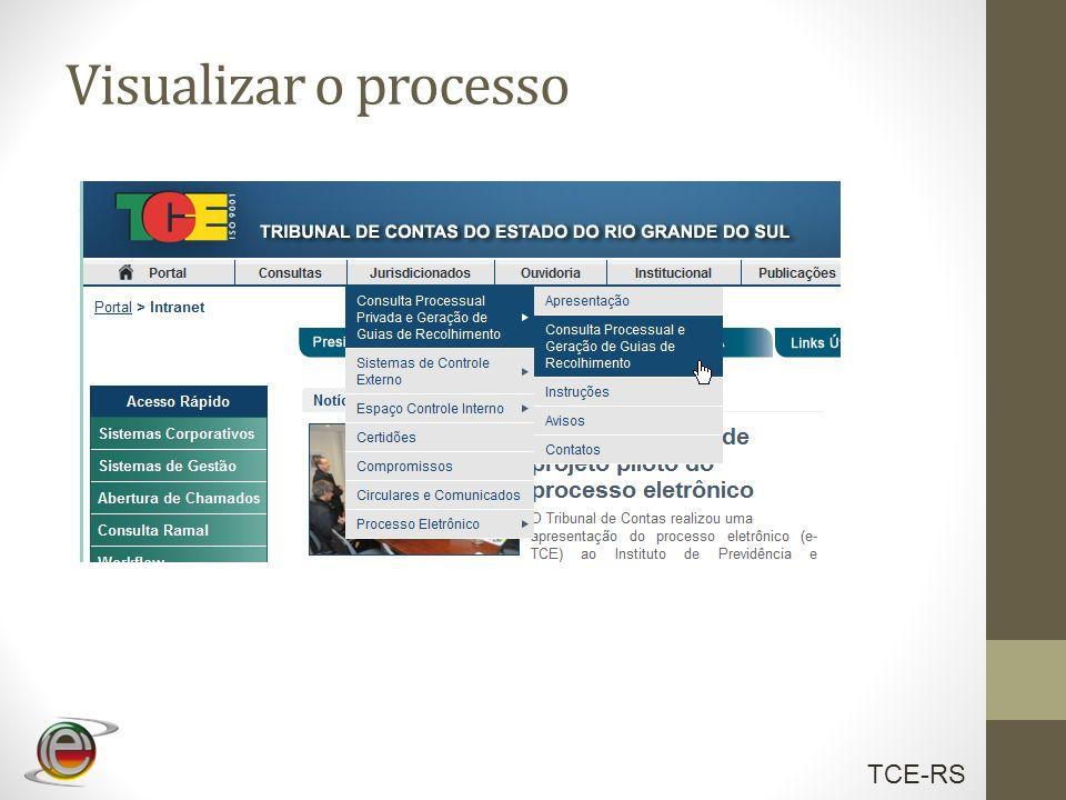 Visualizar o processo ..\Testes\camtasia\visualizandoProcesso.avi