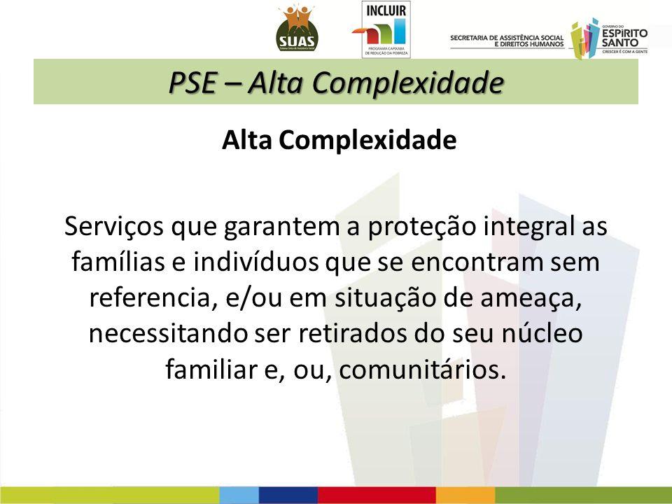 PSE – Alta Complexidade