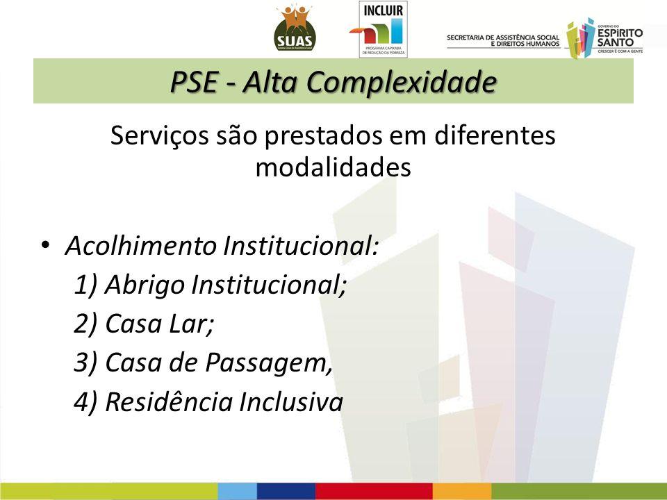 PSE - Alta Complexidade