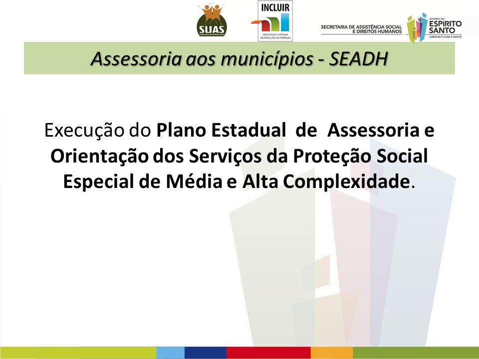 Assessoria aos municípios - SEADH
