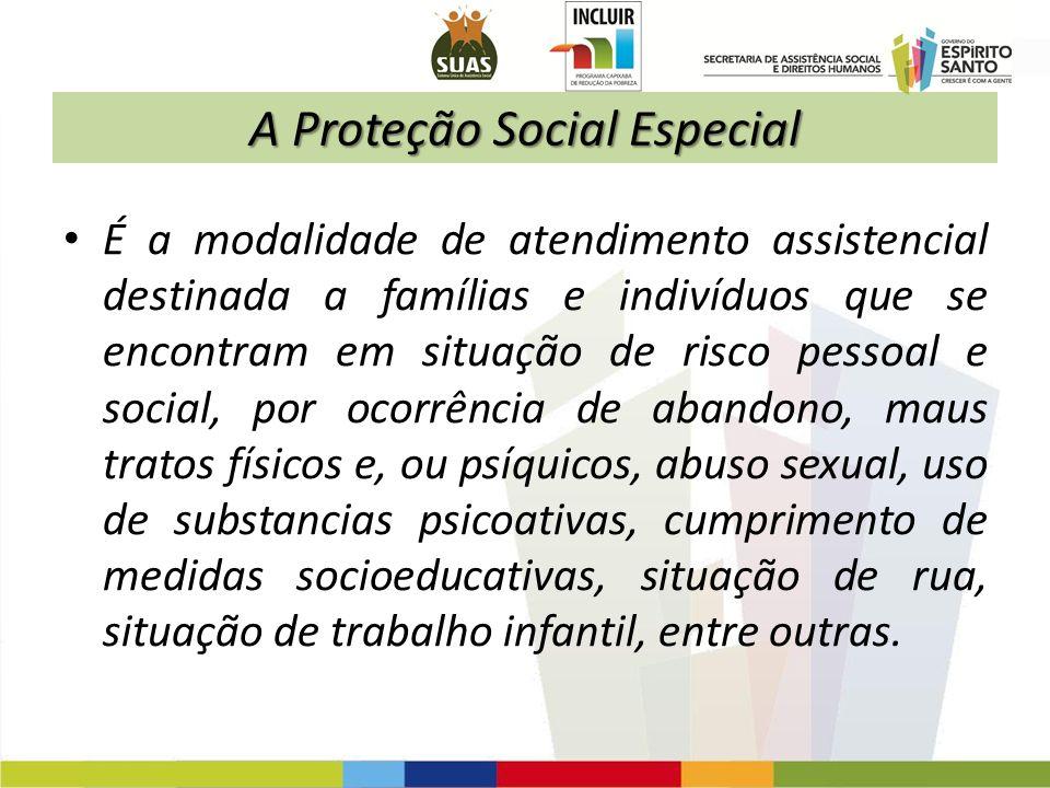 A Proteção Social Especial