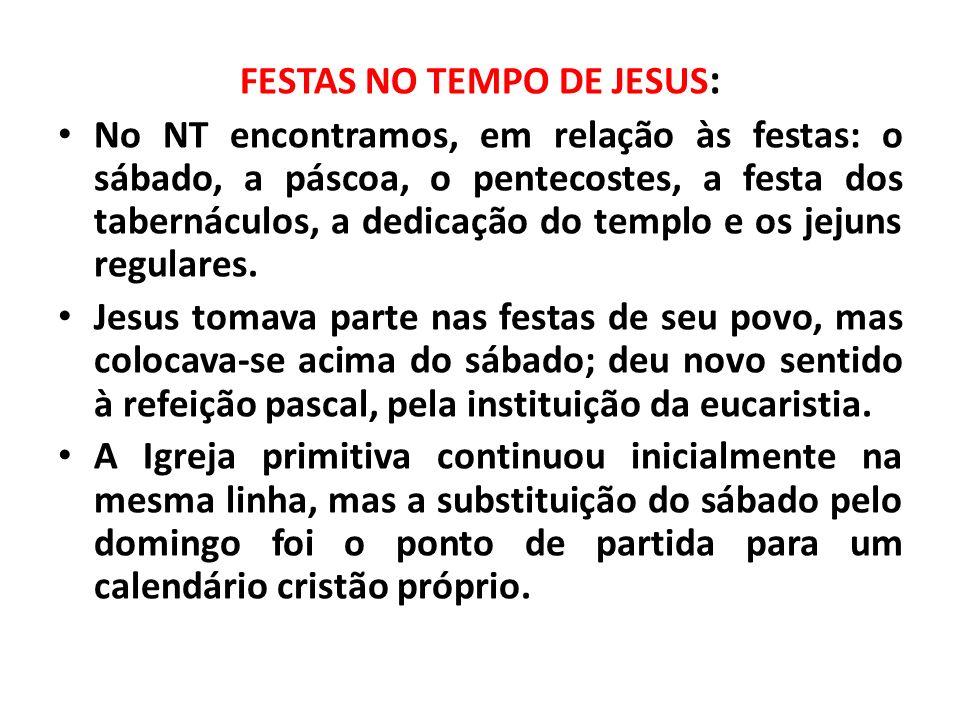 FESTAS NO TEMPO DE JESUS: