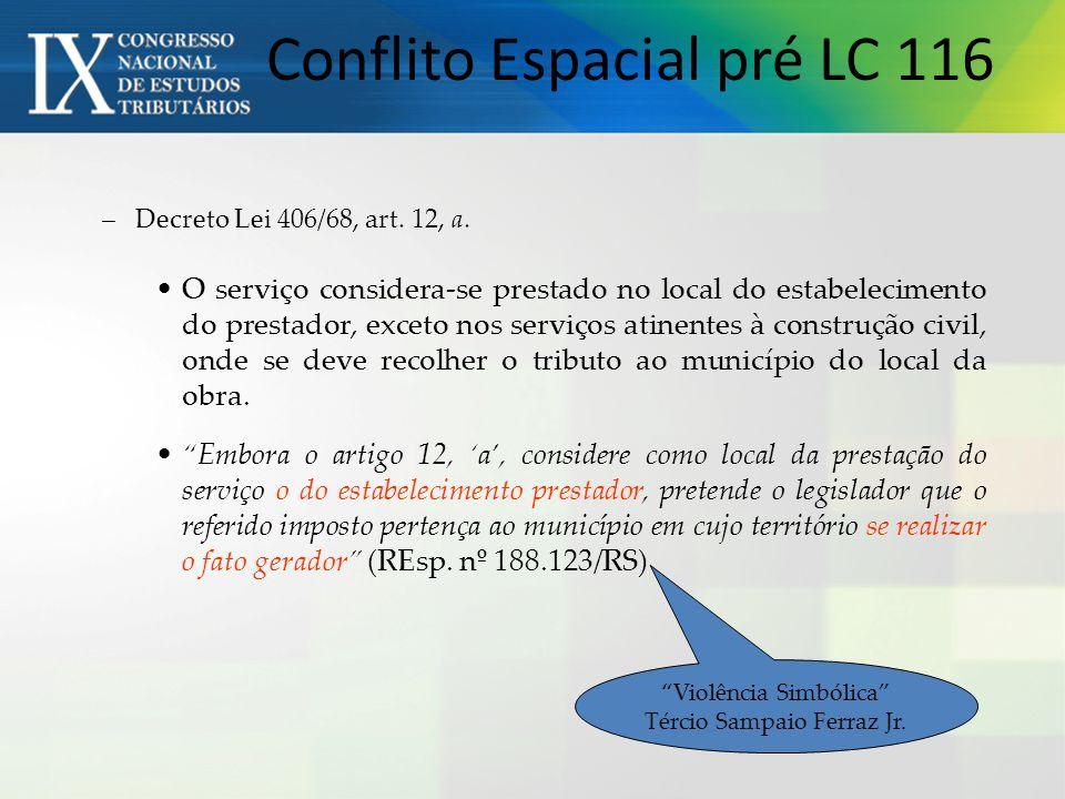 Conflito Espacial pré LC 116