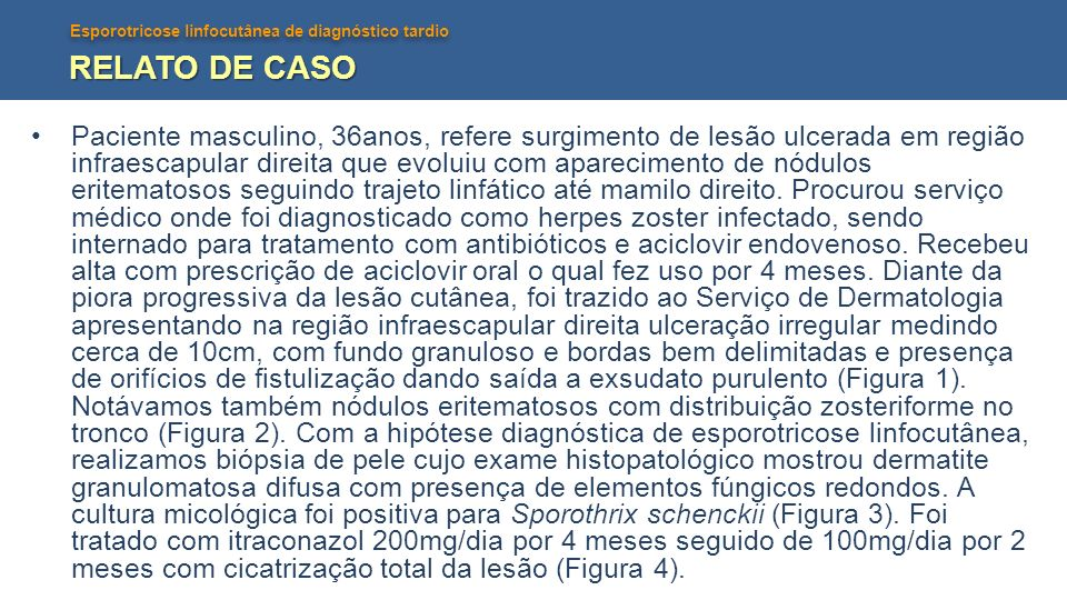 RELATO DE CASO