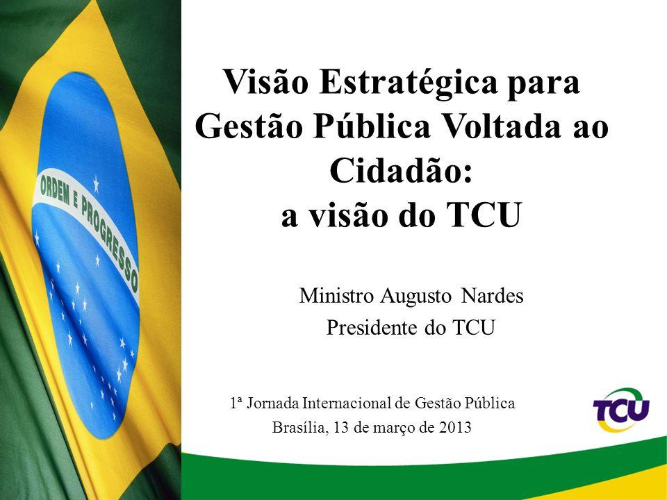 Visão Estratégica para Gestão Pública Voltada ao Cidadão: a visão do TCU