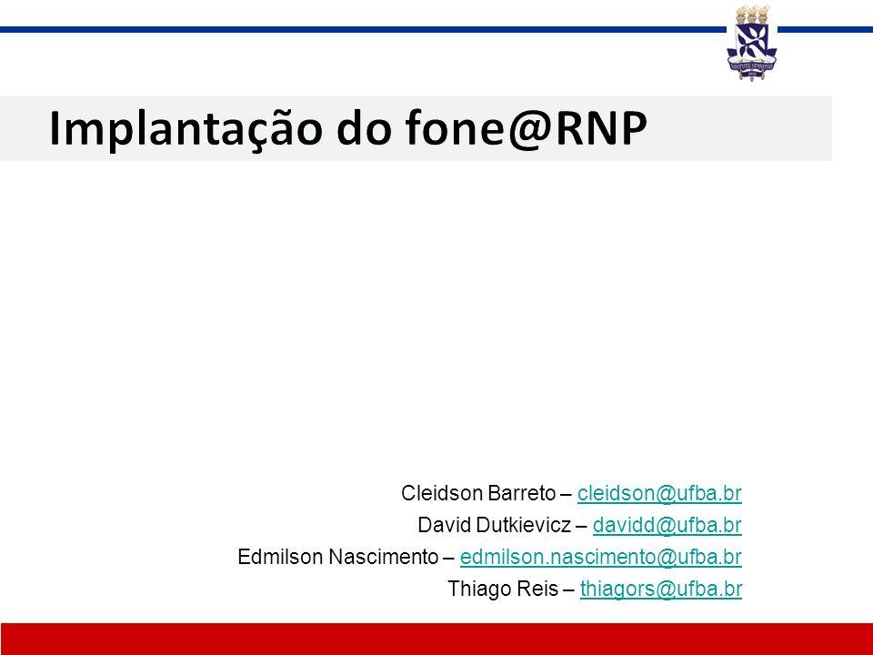 Implantação do fone@RNP