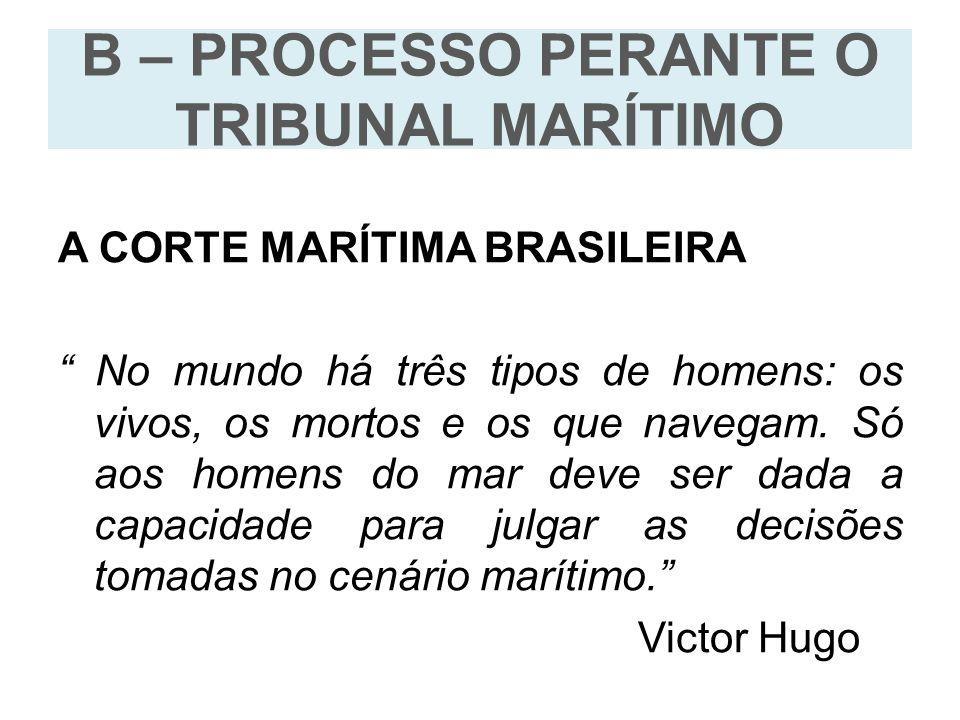 B – PROCESSO PERANTE O TRIBUNAL MARÍTIMO