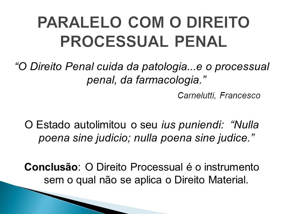 PARALELO COM O DIREITO PROCESSUAL PENAL