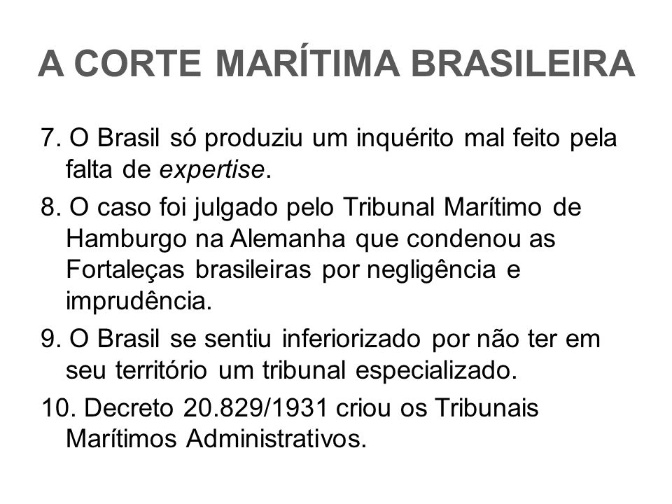 A CORTE MARÍTIMA BRASILEIRA