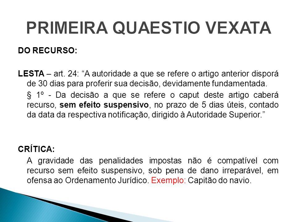 PRIMEIRA QUAESTIO VEXATA
