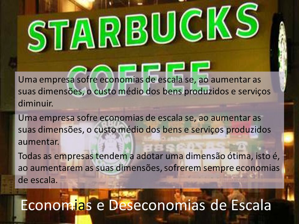 Economias e Deseconomias de Escala
