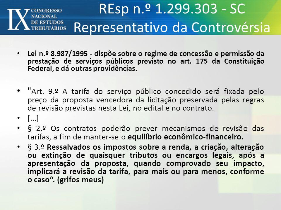 REsp n.º 1.299.303 - SC Representativo da Controvérsia