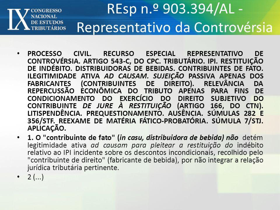 REsp n.º 903.394/AL - Representativo da Controvérsia
