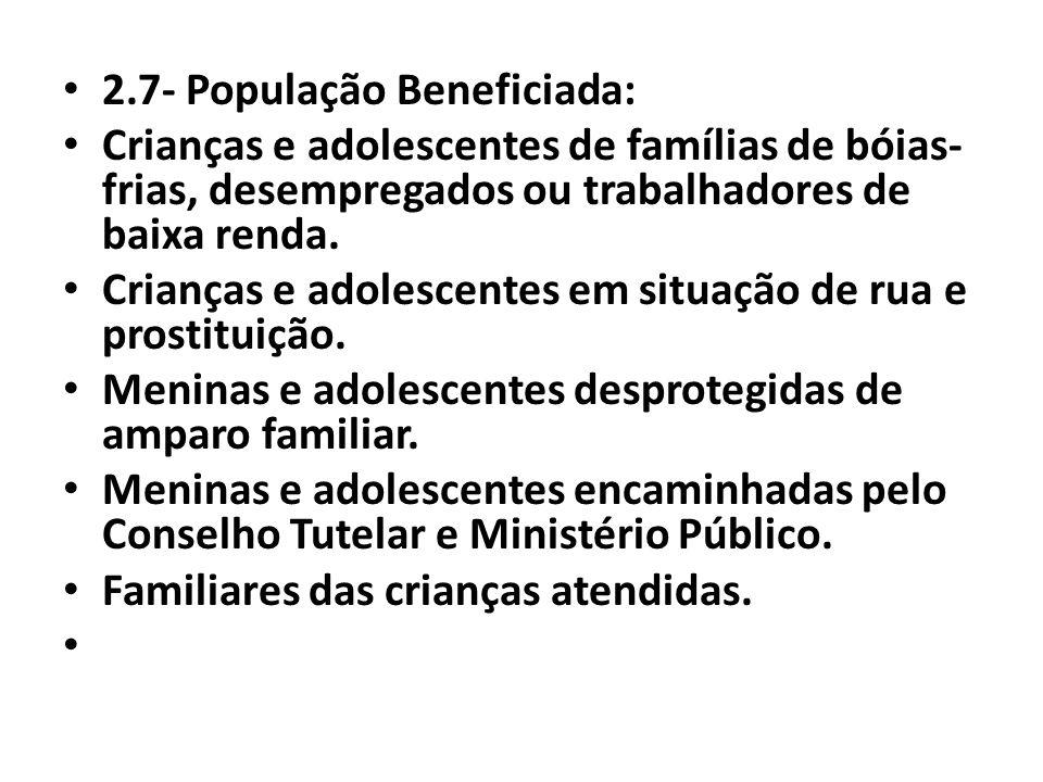 2.7- População Beneficiada: