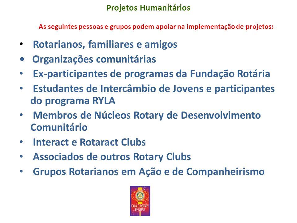 Rotarianos, familiares e amigos • Organizações comunitárias