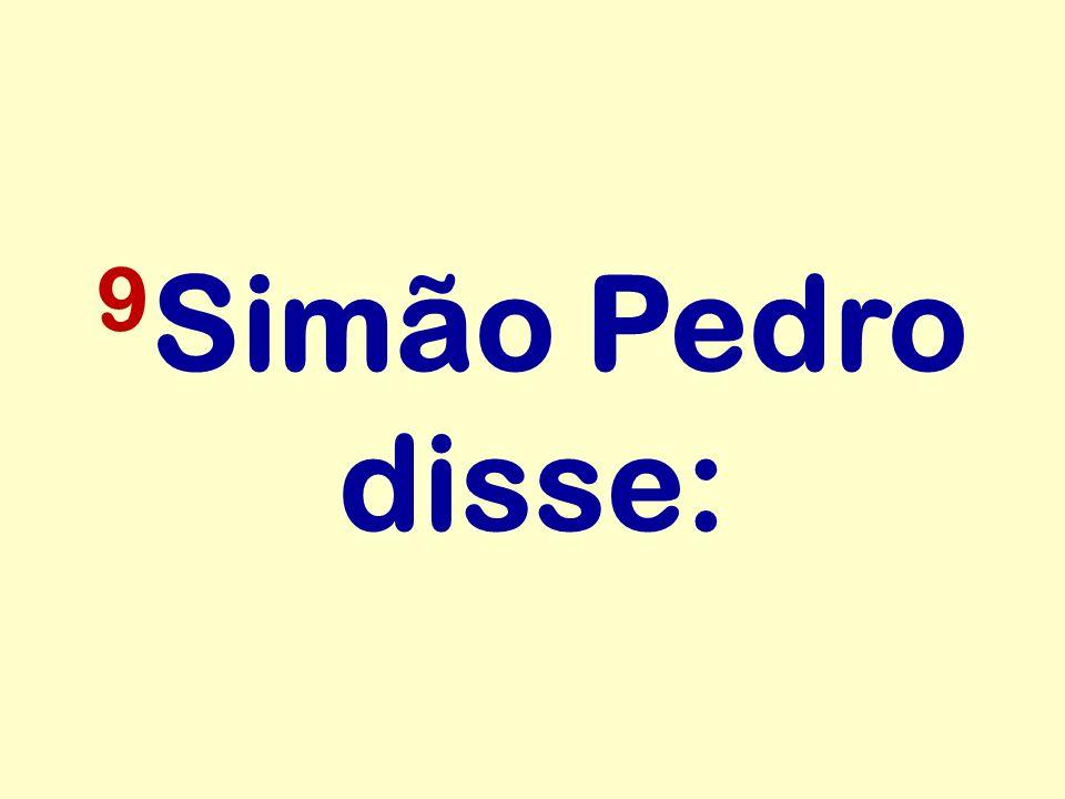 9Simão Pedro disse: