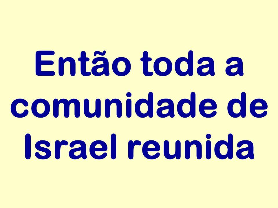 Então toda a comunidade de Israel reunida