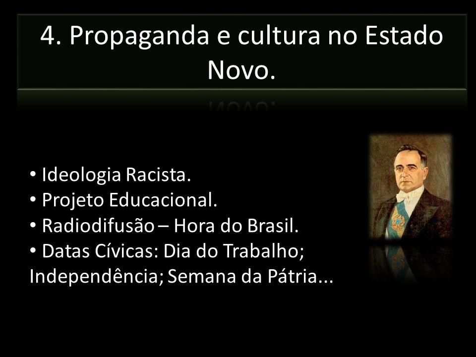 4. Propaganda e cultura no Estado Novo.