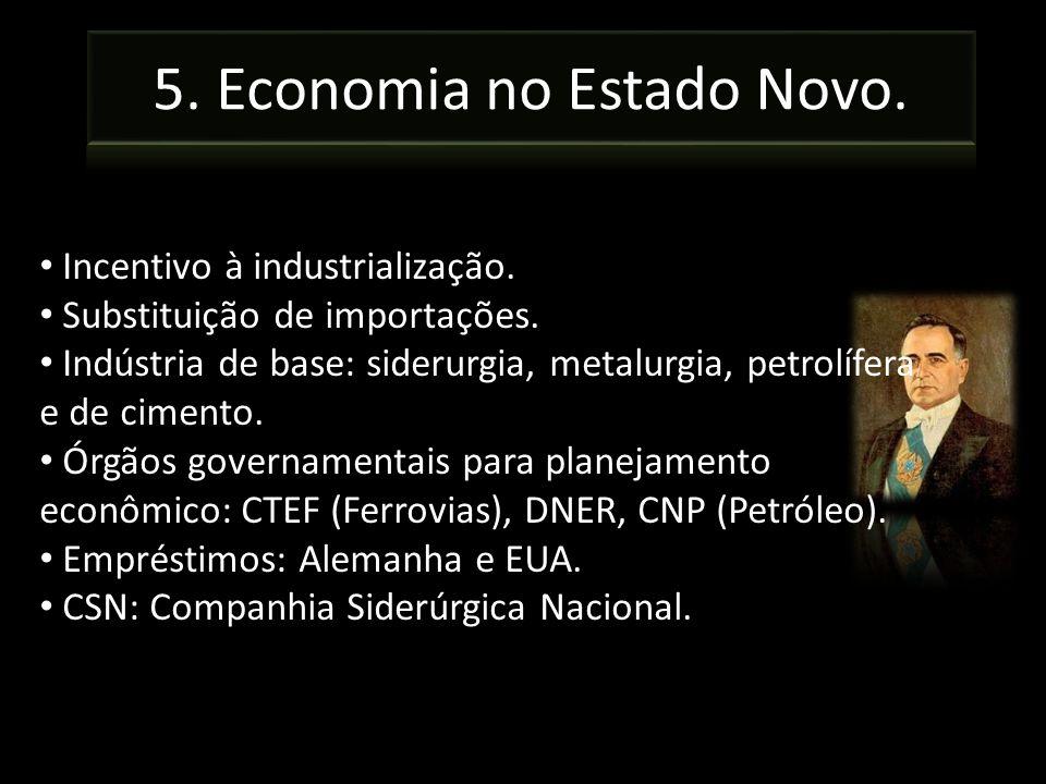 5. Economia no Estado Novo.