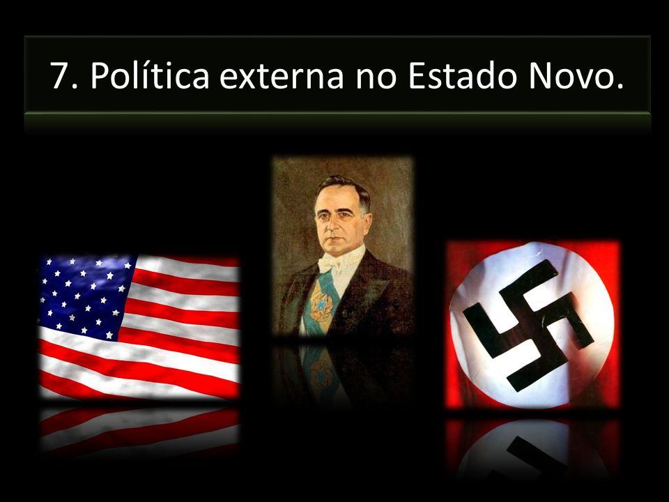 7. Política externa no Estado Novo.