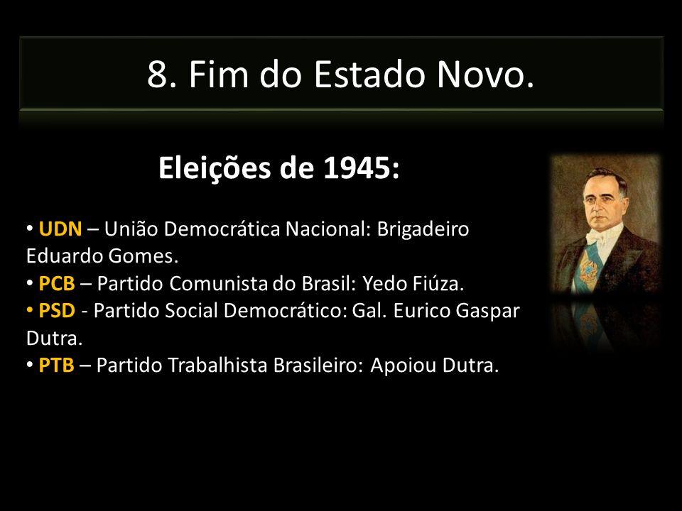 8. Fim do Estado Novo. Eleições de 1945: