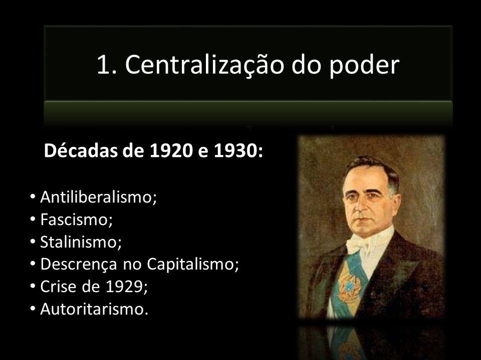 1. Centralização do poder