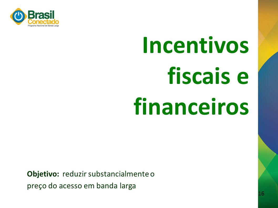 Incentivos fiscais e financeiros