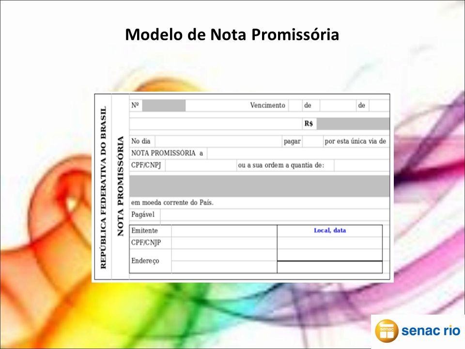 Modelo de Nota Promissória