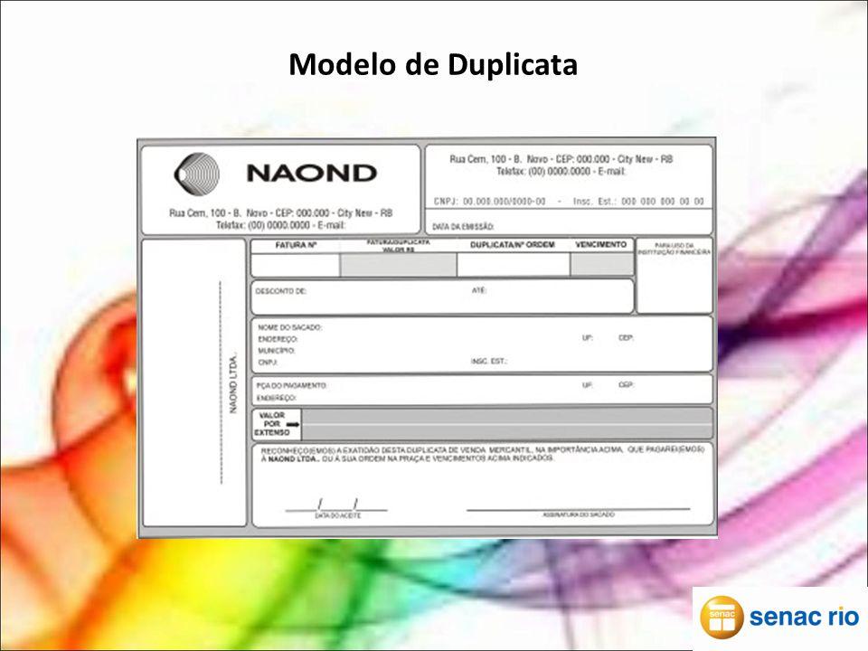 Modelo de Duplicata