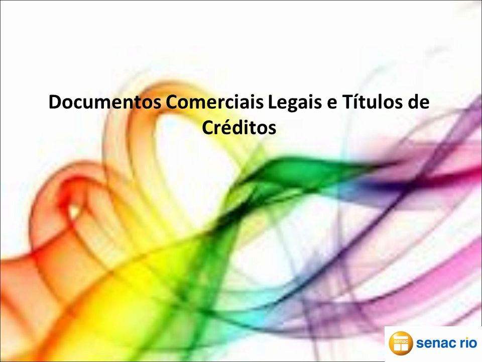 Documentos Comerciais Legais e Títulos de Créditos