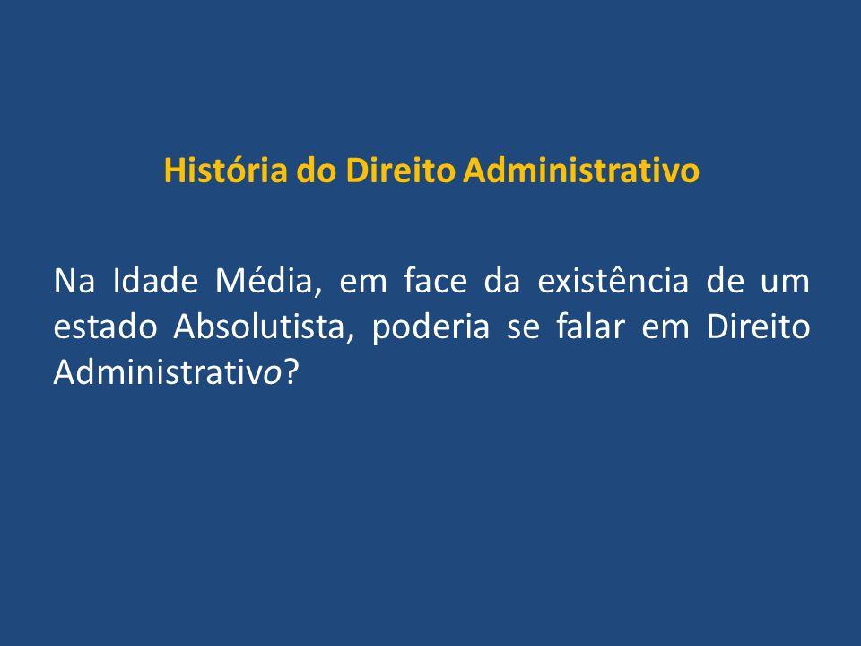 História do Direito Administrativo