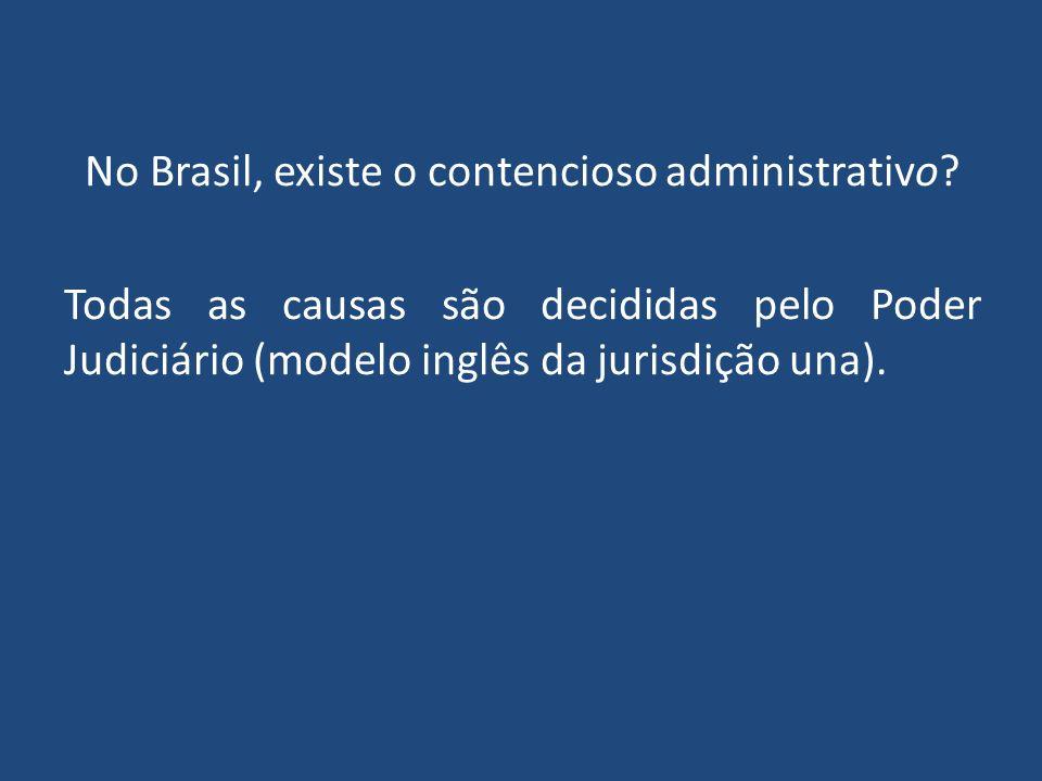 No Brasil, existe o contencioso administrativo