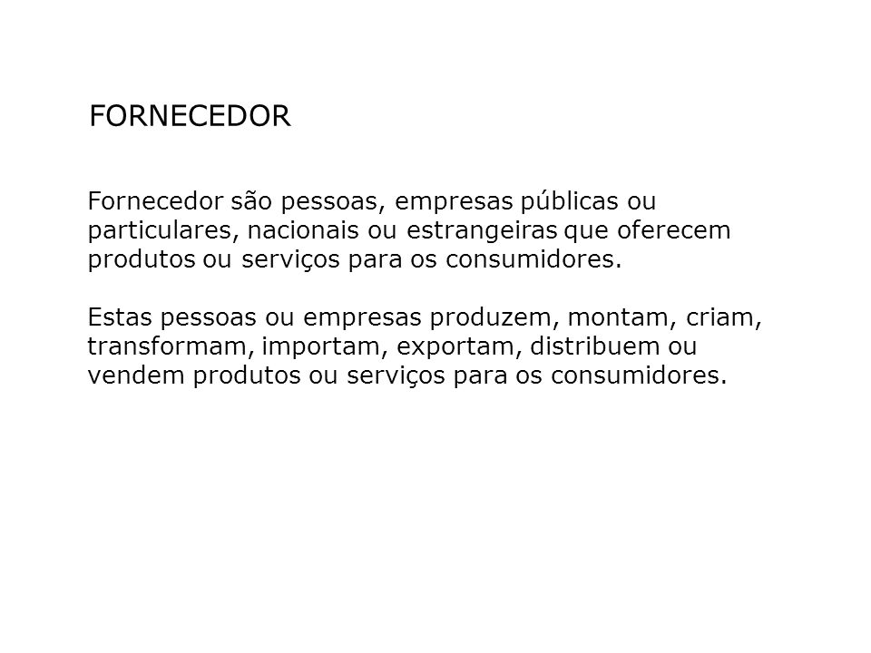 FORNECEDOR