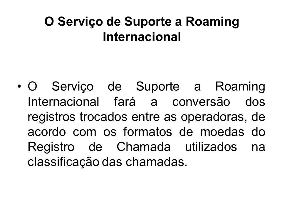 O Serviço de Suporte a Roaming Internacional
