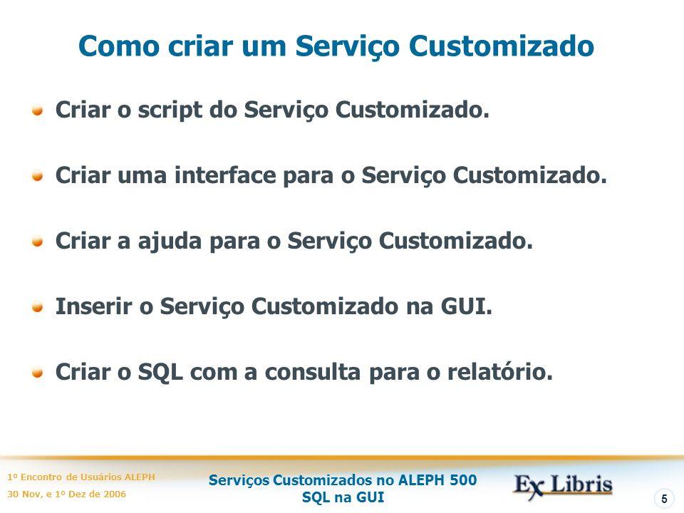 Como criar um Serviço Customizado