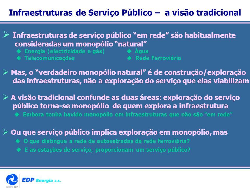 Infraestruturas de Serviço Público – a visão tradicional