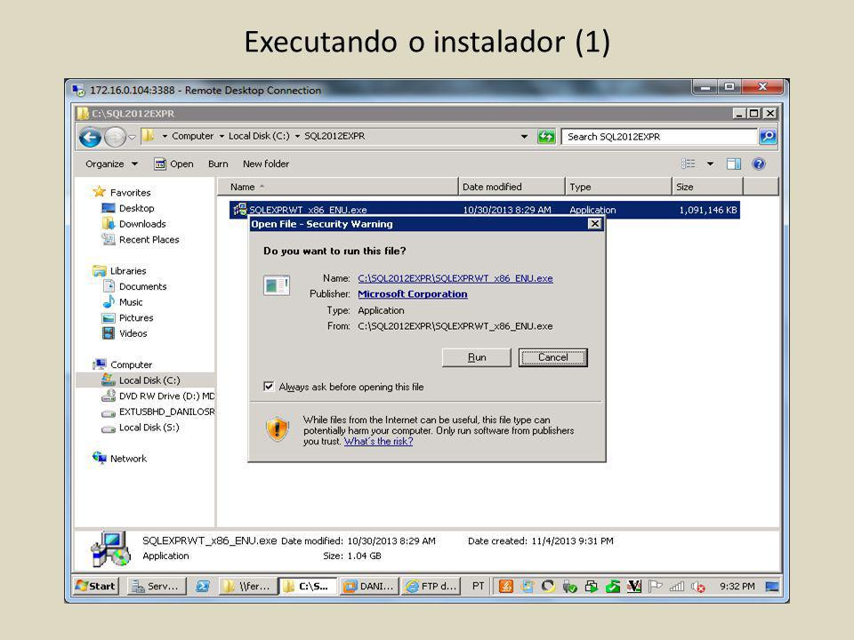 Executando o instalador (1)