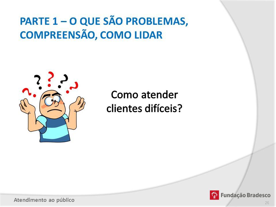 PARTE 1 – O QUE SÃO PROBLEMAS, COMPREENSÃO, COMO LIDAR