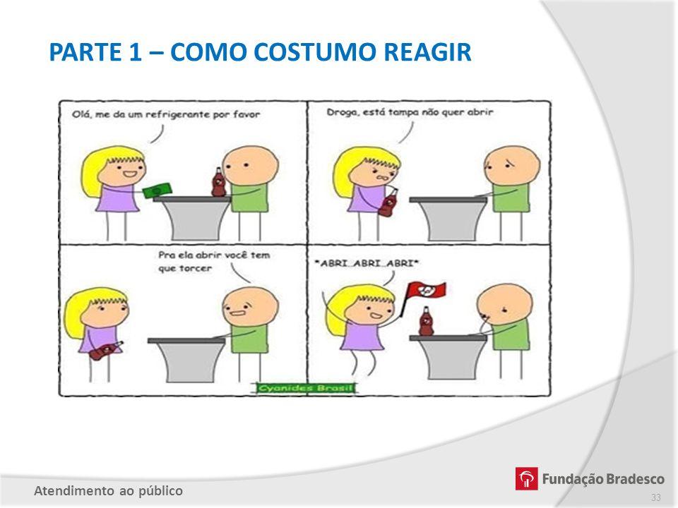 PARTE 1 – COMO COSTUMO REAGIR