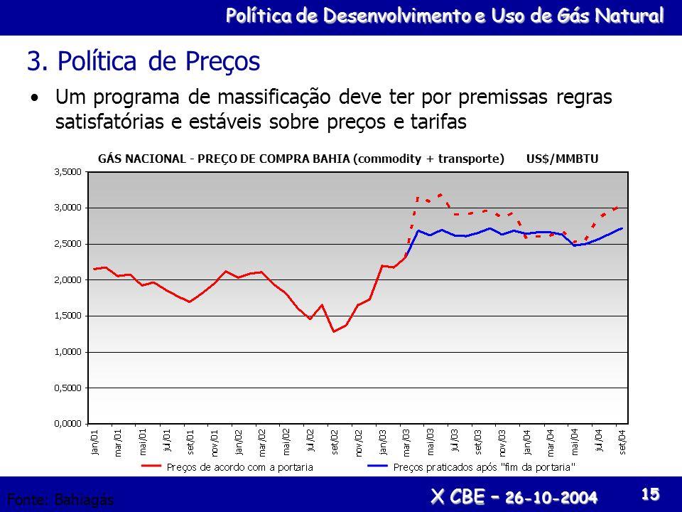 3. Política de Preços Um programa de massificação deve ter por premissas regras satisfatórias e estáveis sobre preços e tarifas.