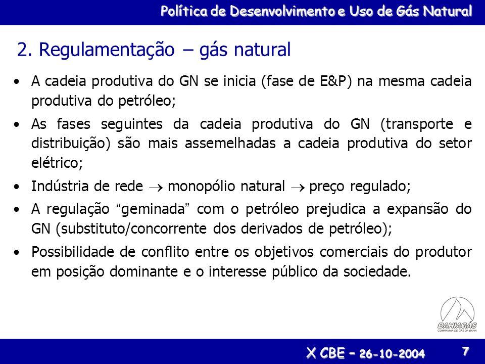2. Regulamentação – gás natural