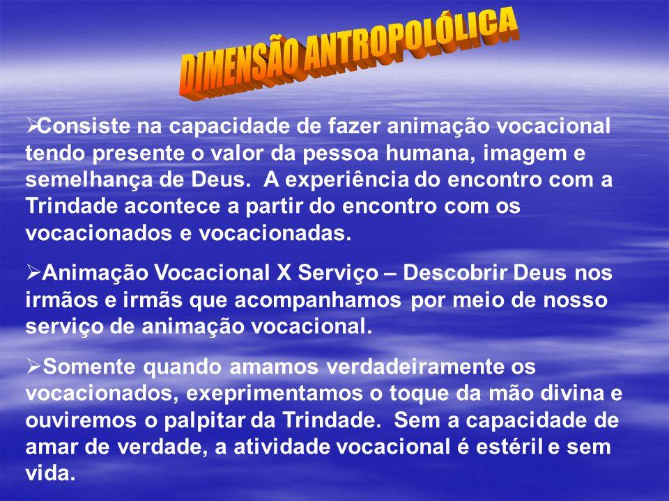 DIMENSÃO ANTROPOLÓLICA