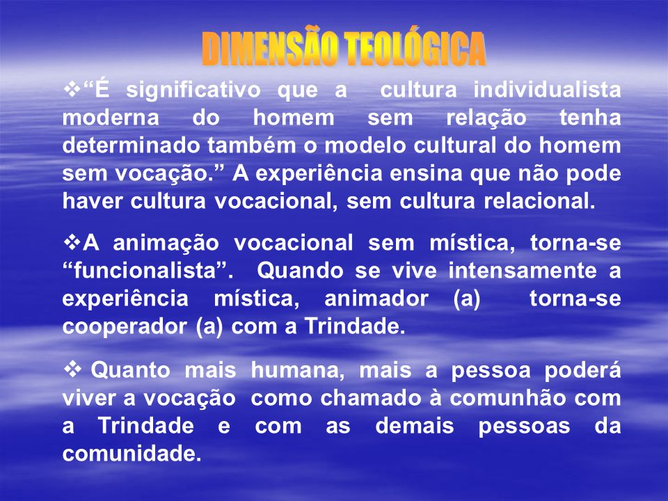 DIMENSÃO TEOLÓGICA