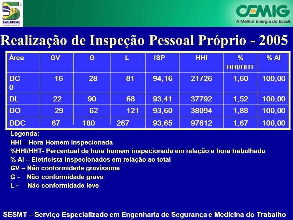 Realização de Inspeção Pessoal Próprio - 2005