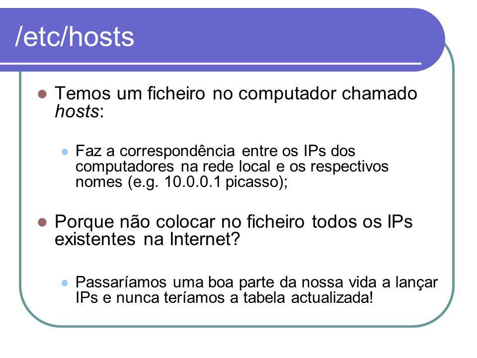 /etc/hosts Temos um ficheiro no computador chamado hosts: