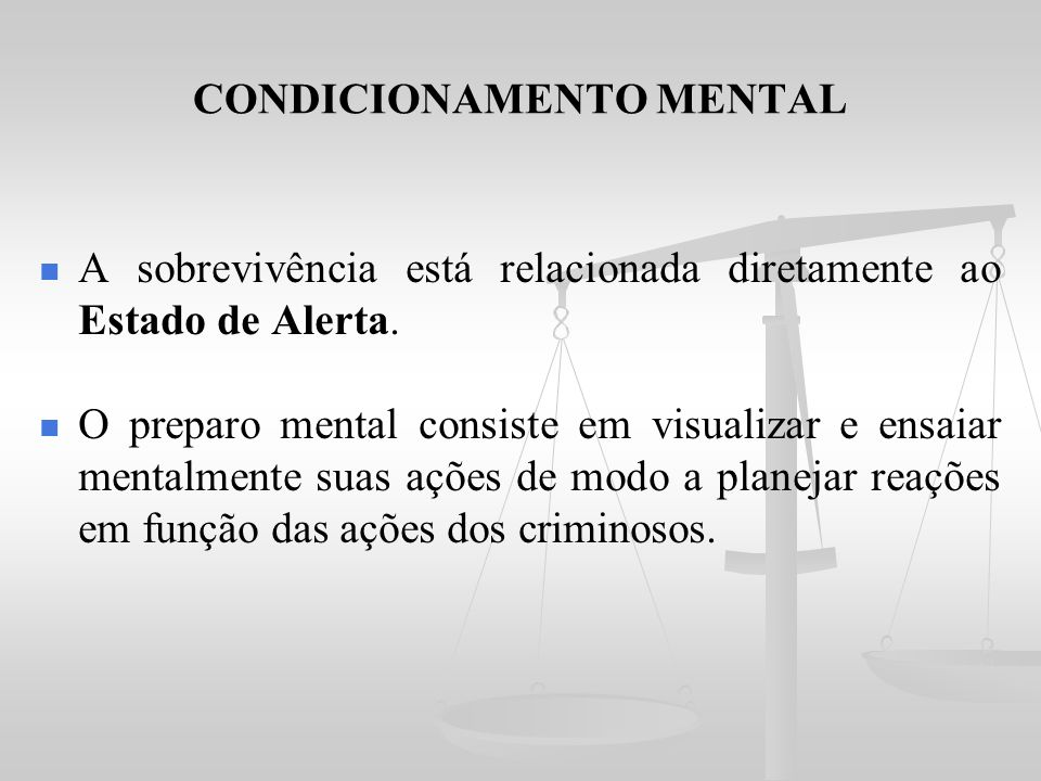 CONDICIONAMENTO MENTAL