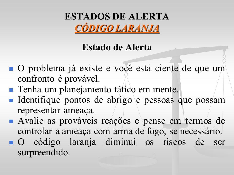 ESTADOS DE ALERTA CÓDIGO LARANJA
