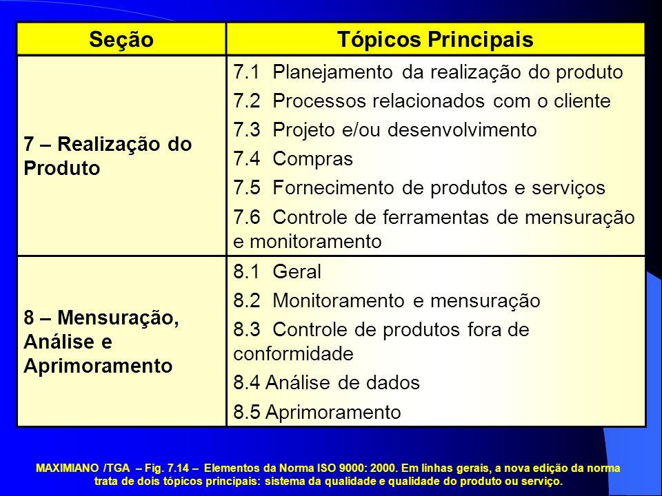 Seção Tópicos Principais