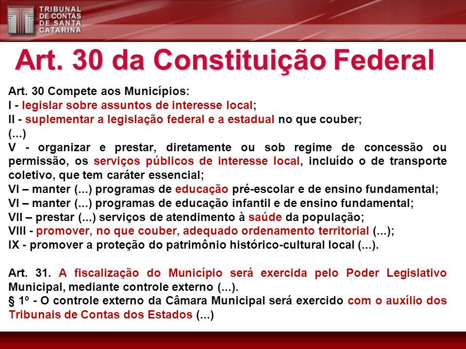 Art. 30 da Constituição Federal