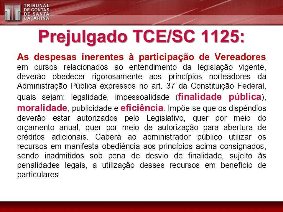 Prejulgado TCE/SC 1125: